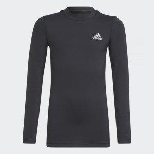 Лонгслив для фитнеса AEROREADY Warming Primegreen Sportswear adidas. Цвет: черный