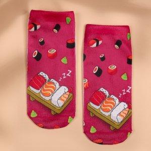 Детские носки до щиколотки с принтом еды SHEIN. Цвет: многоцветный