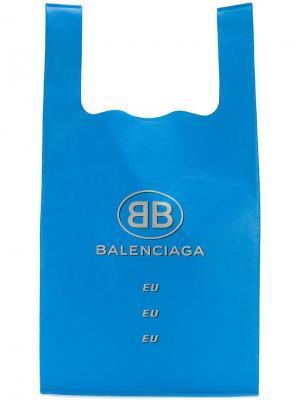 Сумка-шоппер Bal Balenciaga. Цвет: синий