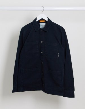Темно-синяя джинсовая рубашка -Темно-синий Tom Tailor