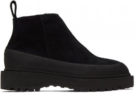 Black Suede Paderno Boots Diemme. Цвет: black suede