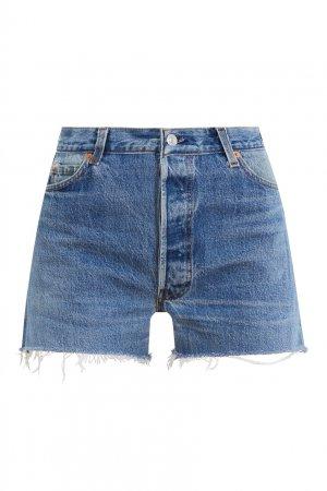 Джинсовые шорты с необработанным краем Re/done. Цвет: синий