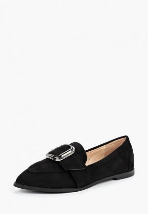 Лоферы LOST INK WF ORLA BUCKLE LOAFER. Цвет: черный
