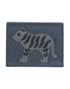 Бумажник THOM BROWNE. Цвет: темно-синий