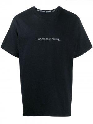 Quote-print crew neck T-shirt F.A.M.T.. Цвет: черный