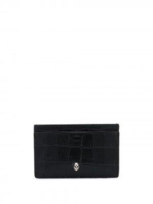 Картхолдер с тиснением и декором Skull Alexander McQueen. Цвет: черный