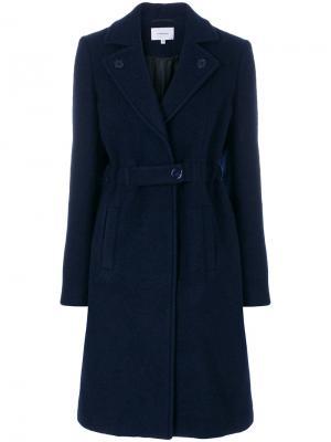 Однобортное пальто Carven. Цвет: синий