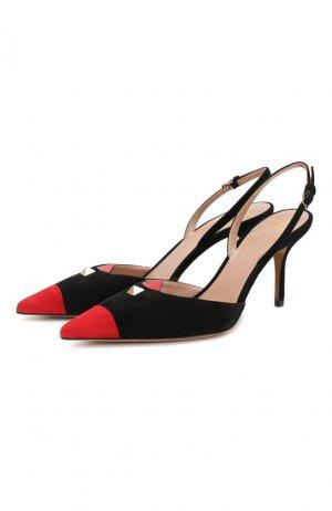 Замшевые туфли Rouge Touch Valentino. Цвет: черный
