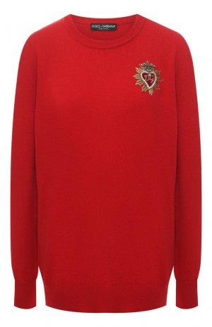 Кашемировый пуловер Dolce & Gabbana. Цвет: красный