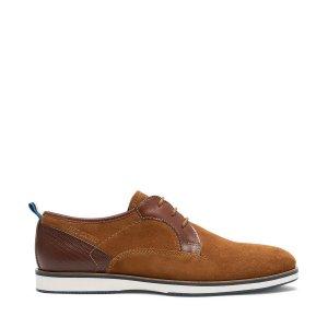 Ботинки-дерби LaRedoute. Цвет: каштановый
