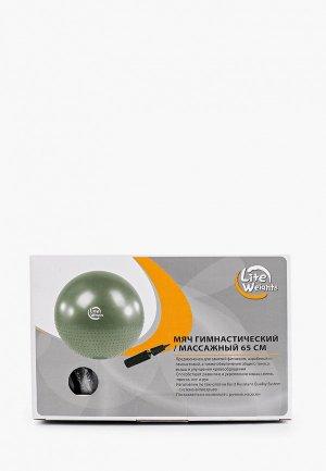 Мяч гимнастический Lite Weights 65 см.. Цвет: серебряный