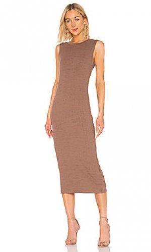 Платье David Lerner. Цвет: серо-коричневый