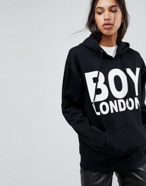 Худи с логотипом Boy London. Цвет: черный