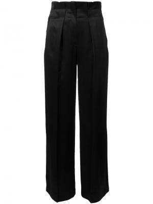 Саржевые брюки с отливом Edun. Цвет: чёрный