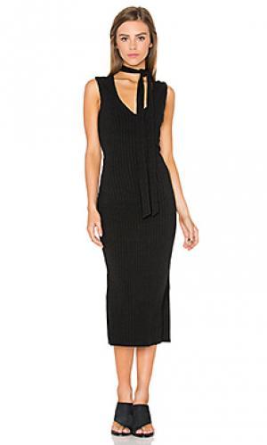 Платье миди sonia Bardot. Цвет: черный