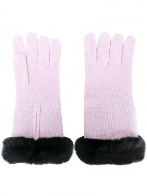 Трикотажные перчатки с меховой оторочкой N.Peal