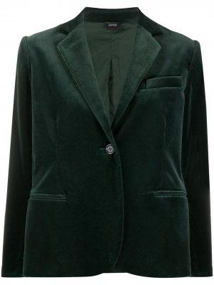 Бархатный блейзер Aspesi. Цвет: зеленый