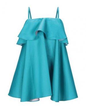 Короткое платье ALEXANDR ROGOV. Цвет: бирюзовый