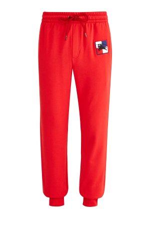 Спортивные брюки-джоггеры из футера с вышивкой и логотипом Prorsum BURBERRY