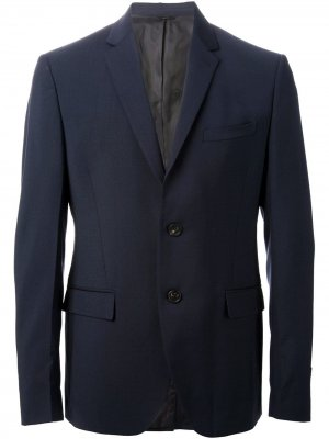 Приталенный костюм Fendi. Цвет: синий