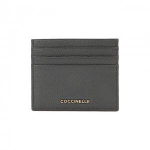 Кожаный футляр для кредитных карт Coccinelle. Цвет: серый