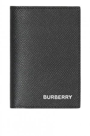 Черная обложка для паспорта Burberry. Цвет: черный