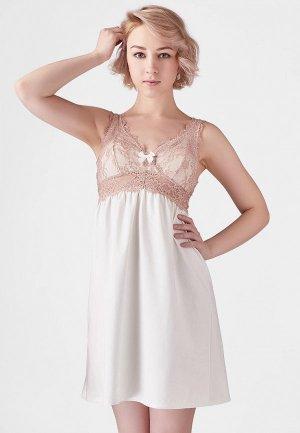 Сорочка ночная Lowry Collection. Цвет: бежевый