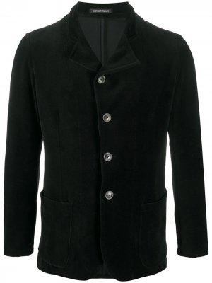 Однобортный пиджак строгого кроя Emporio Armani. Цвет: черный