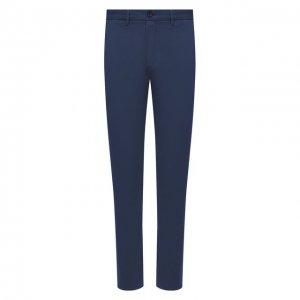 Хлопковые брюки Z Zegna. Цвет: синий