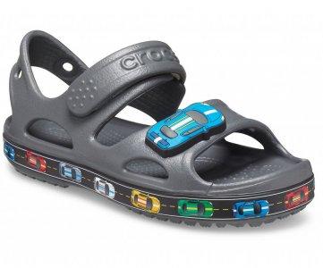 Сандалии для мальчиков CROCS Kids Fun Lab Car Sandal Slate Grey арт. 206794. Цвет: slate grey