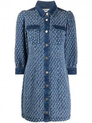 Джинсовое платье Vada с объемными рукавами Essentiel Antwerp. Цвет: синий