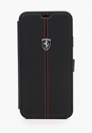 Чехол для iPhone Ferrari 11 Pro Max, Heritage W Booktype Leather Black. Цвет: черный