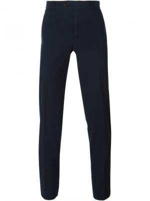 Классические брюки-чинос Brunello Cucinelli. Цвет: синий