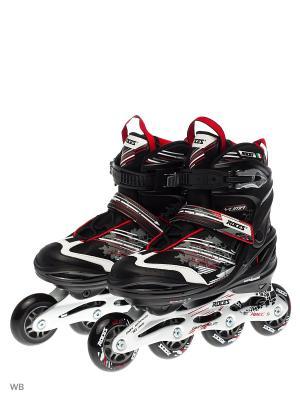 Раздвижные роликовые коньки Roces. Цвет: черный, белый, красный