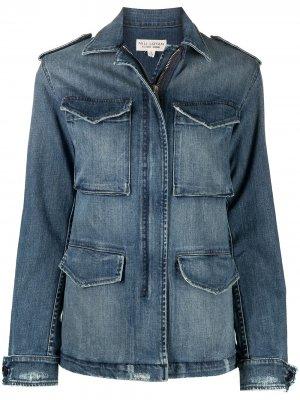 Джинсовая куртка с карманами Nili Lotan. Цвет: синий