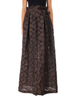 Длинная юбка HANITA. Цвет: темно-коричневый