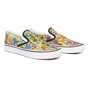 Кеды Vans X Simpsons Comfycush Slip-On. Цвет: мульти
