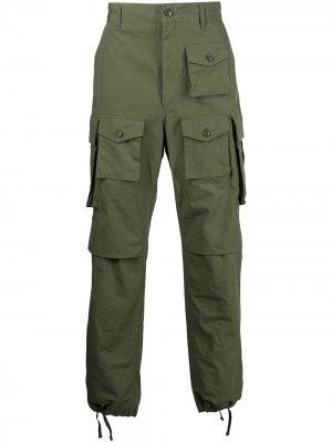 Брюки карго FA Engineered Garments. Цвет: зеленый