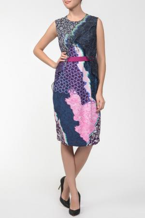 Платье Peter Pilotto. Цвет: ультрамарин, фиалка