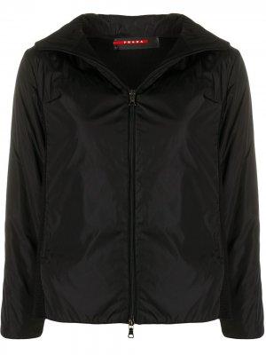 Куртка 1990-х годов со вставками и капюшоном Prada Pre-Owned. Цвет: черный