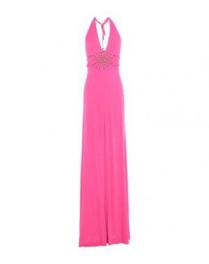 Длинное платье PLEIN SUD. Цвет: фуксия