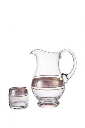 Набор для воды BOHEMIA CRYSTAL. Цвет: прозрачный, золотой, платиновы