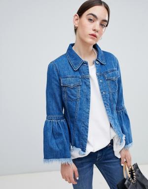 Джинсовая куртка из органического хлопка с необработанным краем -Синий Kings Of Indigo