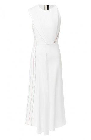 Платье-миди Roland Mouret. Цвет: белый