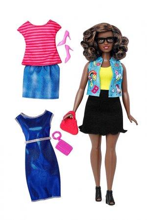 С одеждой Fashionistas Barbie. Цвет: мультицвет, синий