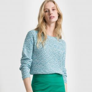 Пуловер из хлопка и полиэстера R essentiel. Цвет: розовый/разноцветный
