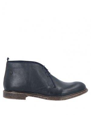 Полусапоги и высокие ботинки BASE London. Цвет: темно-синий