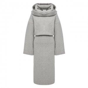 Шерстяное платье Kenzo. Цвет: серый