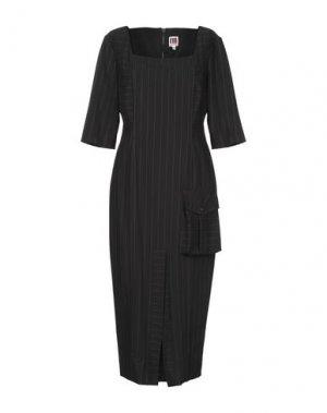 Платье длиной 3/4 I'M ISOLA MARRAS. Цвет: черный