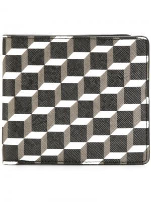 Бумажник с геометрическим принтом Pierre Hardy. Цвет: чёрный